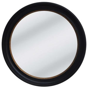 RUSTY BLACK W/GOLD FRAME W/CONVEX MIRROR - Luxe Living