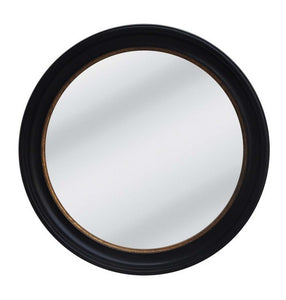 RUSTY BLACK W/GOLD FRAME WITH CONVEX MIRROR