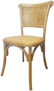 RATTAN WEAVE DINING CHAIR - OAK
