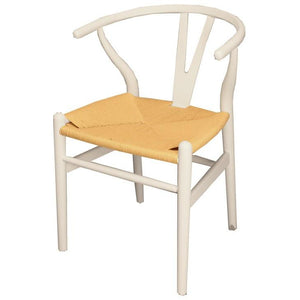 WISHBONE DINING CHAIR - ANTIQUE WHITE - Luxe Living