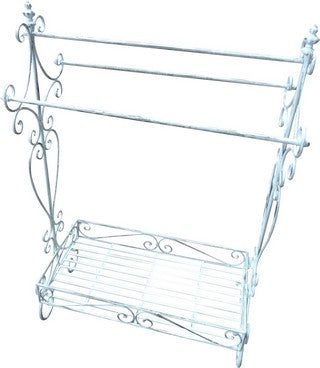 TOWEL HOLDER ANTIQUE WHITE