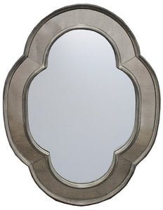 OVAL MIRROR - ANTIQUE OAK