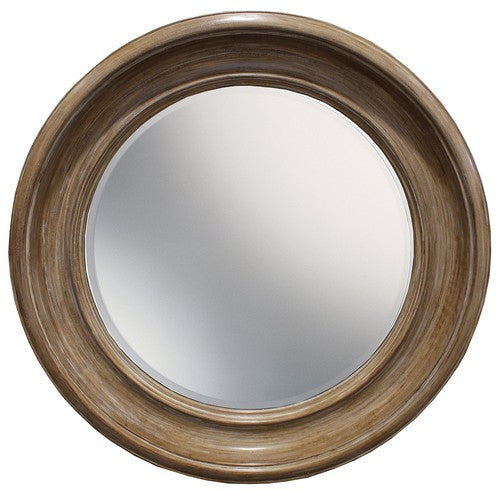 ROUND MIRROR - ANTIQUE BLACK/GOLD
