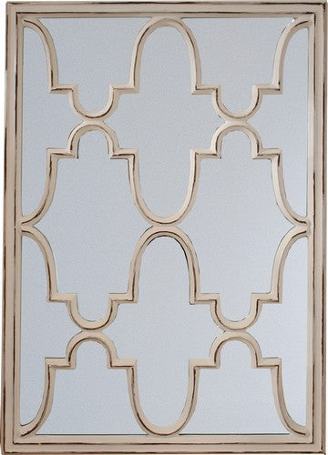 FILIGREE MIRROR - ANTIQUE CREAM