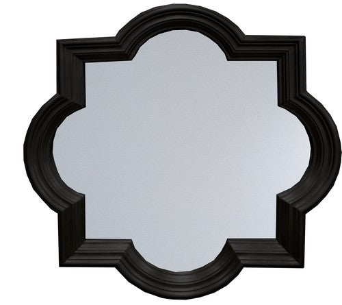 RENAISSANCE MIRROR - ANTIQUE BLACK/GOLD