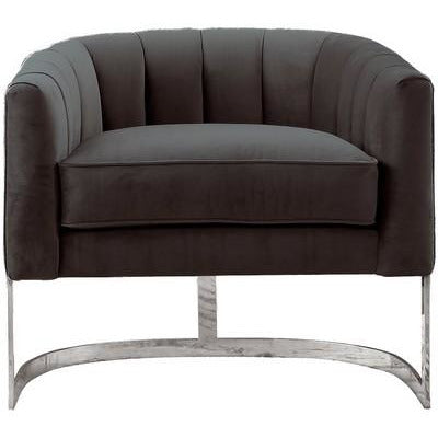 VERONICA OCCASIONAL CHAIR DARK GREY FABRIC 073-28 - Luxe Living