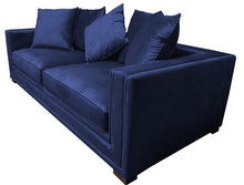 Load image into Gallery viewer, MUSE 3 SEATER SOFA DARK BLUE VELVET