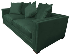 MUSE 3 SEATER SOFA GREEN VELVET