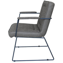 Load image into Gallery viewer, DATSUN OCCASIONAL CHAIR - GREY FABRIC / METAL - Luxe Living
