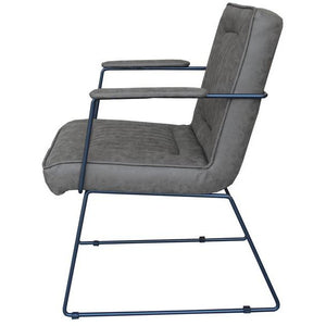 DATSUN OCCASIONAL CHAIR - GREY FABRIC / METAL - Luxe Living