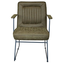 Load image into Gallery viewer, DATSUN OCCASIONAL CHAIR - GREEN FABRIC / METAL - Luxe Living