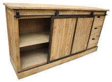 Load image into Gallery viewer, BUFFET W / SLIDING DOOR - OLD PINE / IRON