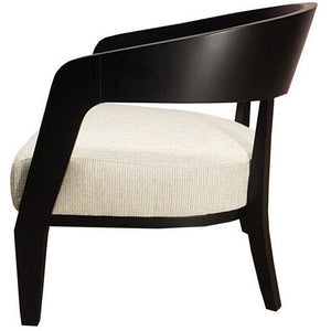 MALTESE LIBRARY CHAIR - DARK BROWN FRAME - Luxe Living
