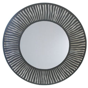 METAL ROUND MIRROR - Luxe Living
