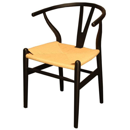 WISHBONE DINING CHAIR - ANTIQUE BLACK - Luxe Living