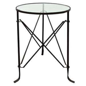 VILLA IRON TABLE - BLACK - Luxe Living