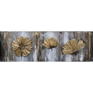 CANVAS 3D GOLDEN 3 POPPIES - Luxe Living