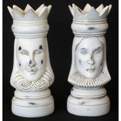 CANDLE HOLDERS KING QUEEN SET OF 2