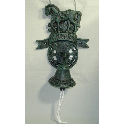 CAST IRON BELL WELCOME HORSE