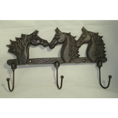 CAST IRON HOOKS HORSE HEADS