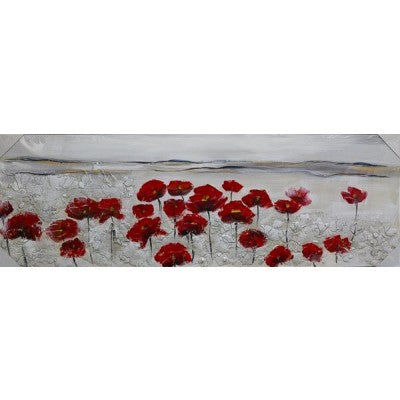 CANVAS POPPY FIELD RED - Luxe Living