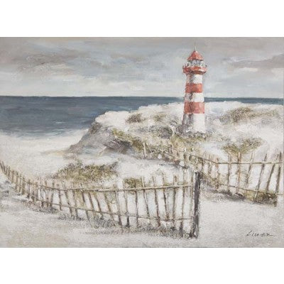 CANVAS LIGHTHOUSE SAND DUNES - Luxe Living