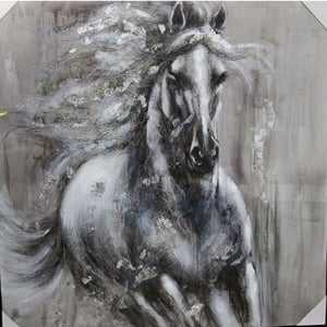 CANVAS RUNNING HORSE - Luxe Living