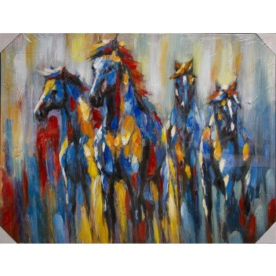CANVAS COLOURFUL HORSES - Luxe Living
