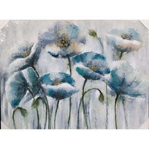 CANVAS WHITE POPPIES - Luxe Living