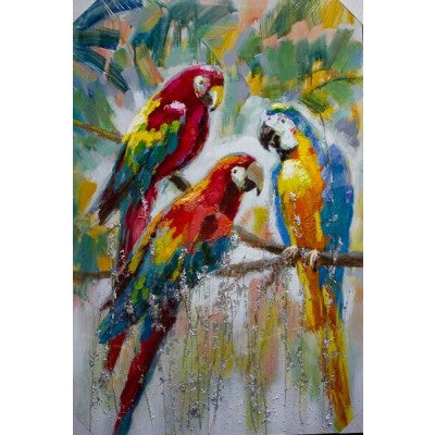 CANVAS 3 PARROTS - Luxe Living