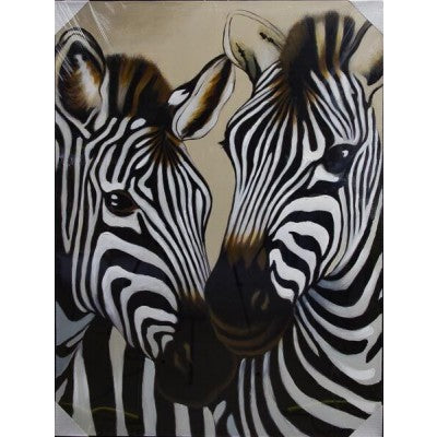 CANVAS 2 ZEBRAS - Luxe Living