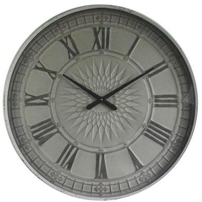OLD TOWN METAL WALL CLOCK - TAIWAN MOVEMENT - SUNBURST - Luxe Living