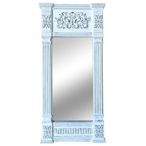 MANTLE MIRROR RUSTIC WHITE - Luxe Living