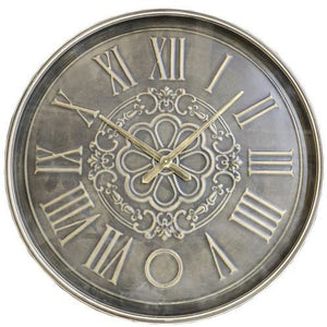 OLD TOWN METAL WALL CLOCK - TAIWAN MOVEMENT - Luxe Living