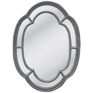 POWDER GRAY FRAME W/FLAT MIRROR - Luxe Living