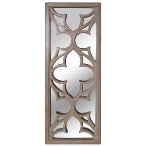 ORNATE RECTANGLE MIRROR ANTIQUE CREAM - Luxe Living