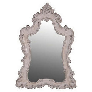 WHITE ANTIQUE MIRROR - Luxe Living