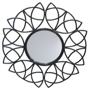 METAL FLORAL MIRROR - Luxe Living