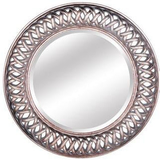 ROUND ORNATE MIRROR ANTIQUE GOLD - Luxe Living