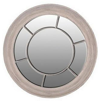 ROUND WHITE WINDOW MIRROR - Luxe Living