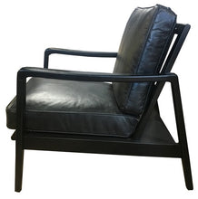 Load image into Gallery viewer, FINN CHAIR - BELON BLACK / BLACK FRAME