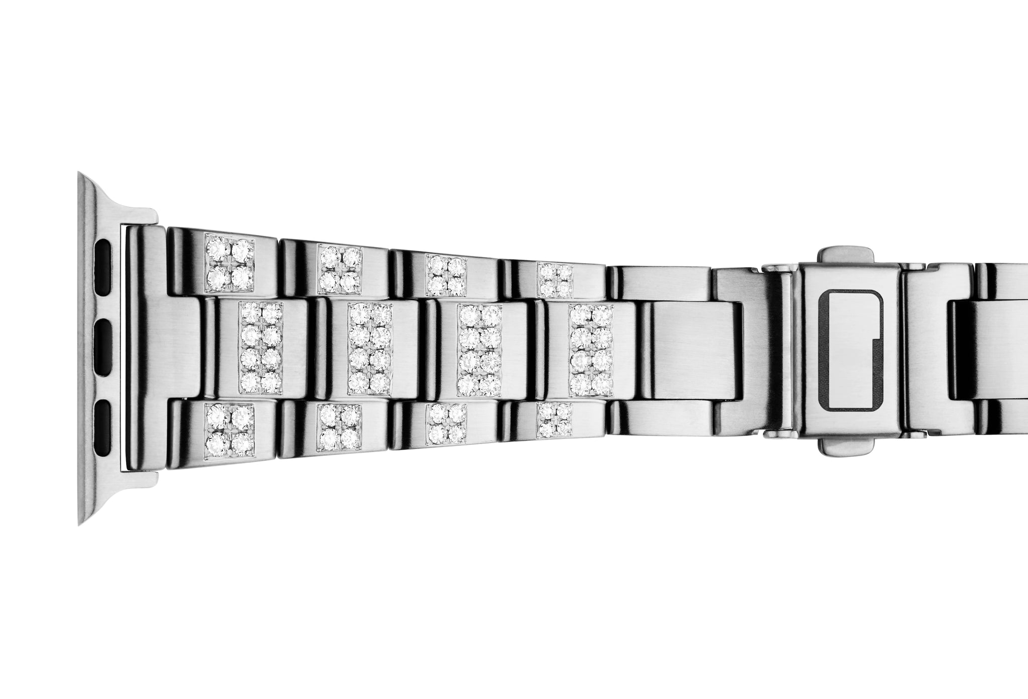 Luxury Power Bracelet (band) for Apple Watch. Crafted with ethical lab grown diamonds.