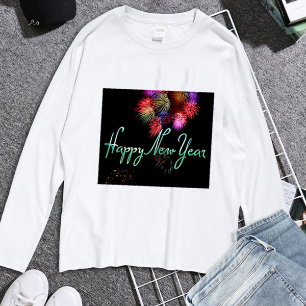 cool fireworks simple new year words creative t shirt worldgalleon