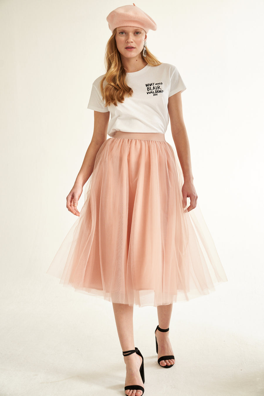 Gossengold - ladies tulle skirt - pink
