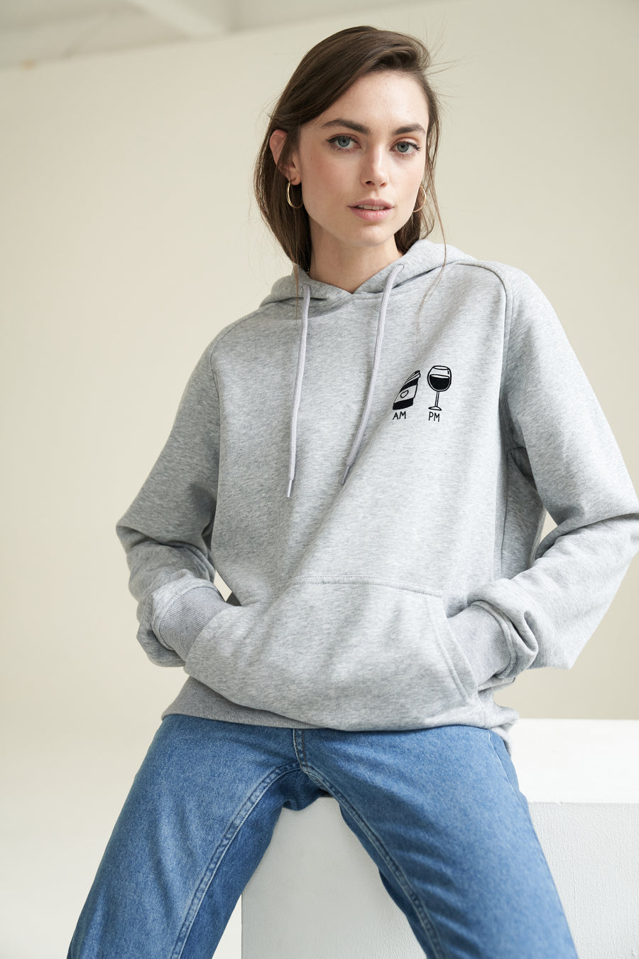 AM Coffee PM Wine Hoodie