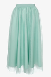 Gossengold - tulle skirt with high waist - women - turquoise
