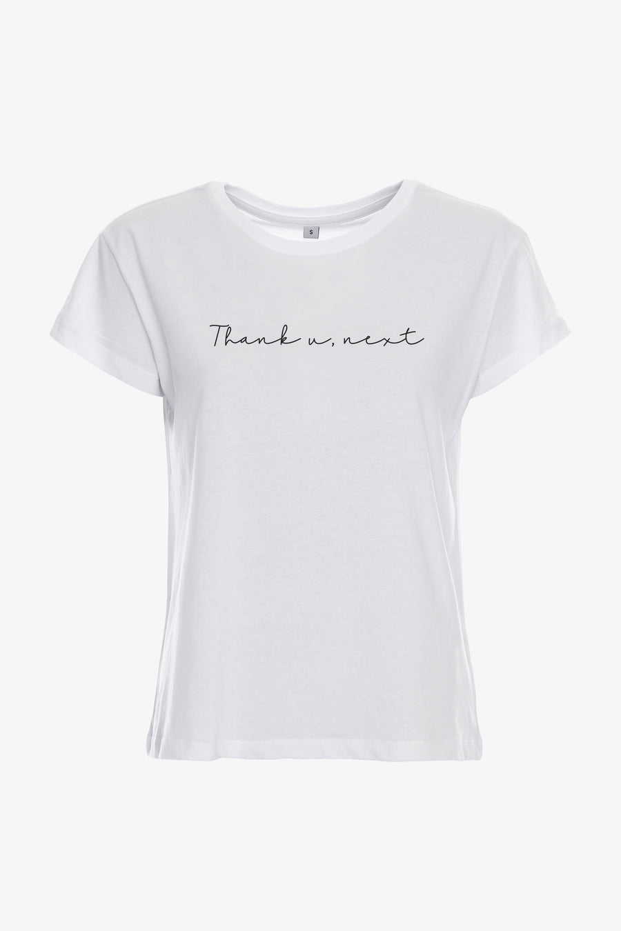 Gossengold - Thank U Next Slogan T Shirt Damen - Weiß