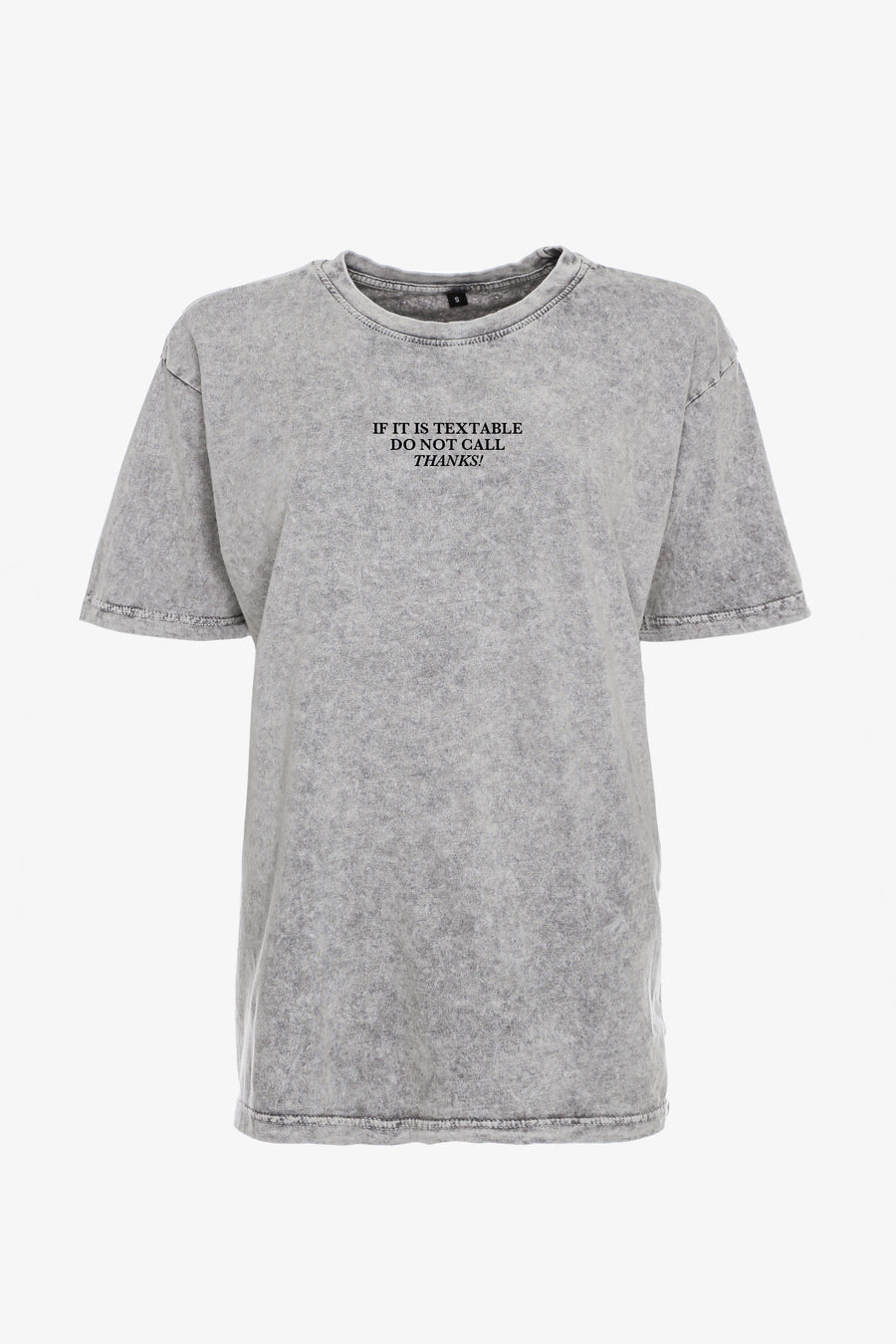 Gossengold - Do Not Call Statement T Shirt Damen - washed grey