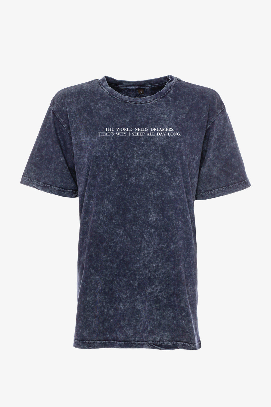 Gossengold - the world needs more dreamers Statement T Shirt Damen -  washed blue