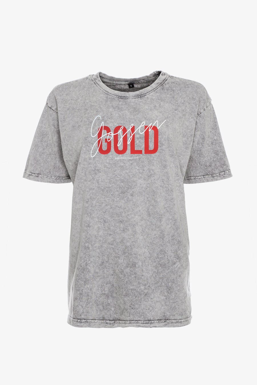 Gossengold - Logo T Shirt Unisex Fit - washed grey